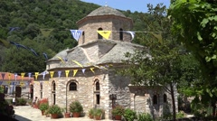 Evangelistria Monastery in Skiathos Island, Greece Stock Footage