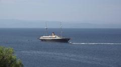 Cruise ship sea trip Stock Footage