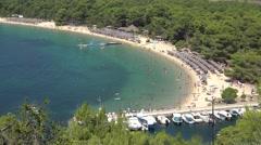 Top viw of Mediterranean bay Stock Footage