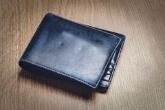 Black Modern Money Wallet For Male Stock Photos