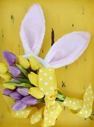 Happy Easter bunny ears. Stock Photos