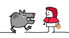 Cartoon characters - little red riding hood Stock Illustration