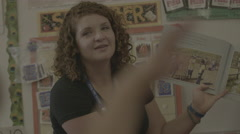 Teacher Reading to Students 3 Stock Footage