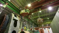 Internal factory buildings Stock Footage