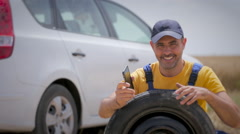 Road rescue call services Stock Footage