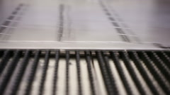 High precision CNC sheet metal stamping and punching machinery. factory - stock footage