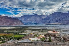 Maitreya Buddha statue  in Diskit gompa, Nubra valley, Ladakh, Inda Stock Photos