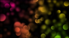 Multi Color Blurred Bokeh Floating Right, Motion Background Stock Footage