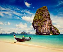 Thailand tropical vacation concept background - stock photo