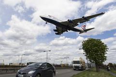 British Airways Boeing 747 London Heathrow - stock photo