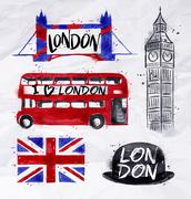 London signs - stock illustration