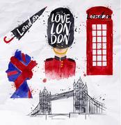 London symbols - stock illustration