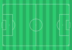 Football soccer field Stock Illustration