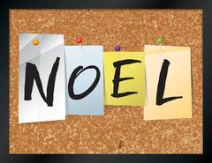 Noel Bulletin Board Theme Illustration Stock Illustration