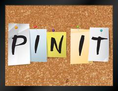 Pin It Bulletin Board Theme Illustration - stock illustration