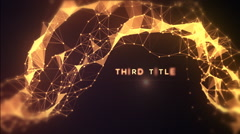 Golden Titles Intro Stock After Effects