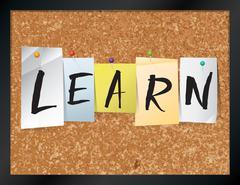 Learn Bulletin Board Theme Illustration - stock illustration