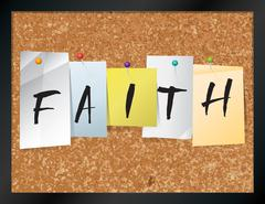 Faith Bulletin Board Theme Illustration - stock illustration