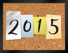 2015 Bulletin Board Theme Illustration - stock illustration