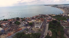 The beautiful city of Salvador and the Bonfim Church in Bahia, Brazil Stock Footage