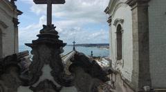Flying over Bonfim Church in Salvador, Bahia, Brazil Stock Footage