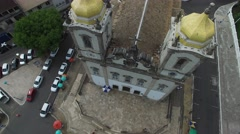Aerial view of Bonfim Church in Salvador, Bahia, Brazil Stock Footage