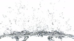3D generated animation of the water splash, alpha is included - stock footage