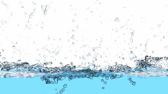 Water is filling the screen, 3D animation with alpha mask Stock Footage