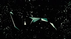 Stars and irregular geometric shapes. Composition 8 Stock Footage