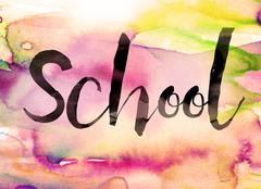 School Concept Watercolor Theme - stock illustration