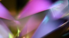 Colorful Rotating Ruby Prism Motion Background Stock Footage