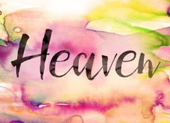 Heaven Concept Watercolor Theme - stock illustration