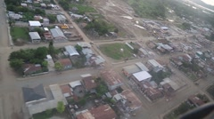 Flying over the effected, residential areas of Ecuador, 2016 quake Stock Footage
