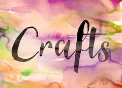 Crafts Concept Watercolor Theme Stock Illustration