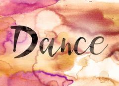 Dance Concept Watercolor Theme - stock illustration
