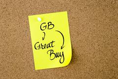 Business Acronym GB Great Buy - stock photo