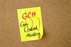 Business Acronym GCH Gas Central Heating - stock photo