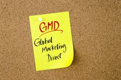 Business Acronym GMD Global Marketing Direct - stock photo