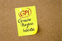 Business Acronym GPI Genuine Progress Indicator Stock Photos