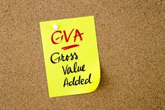 Business Acronym GVA Gross Value Added - stock photo