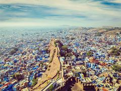 Jodhpur the Blue city, Rajasthan, India - stock photo