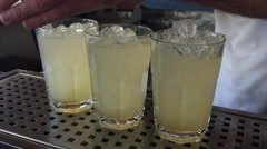 Preparing Mochitos on the bar Stock Footage
