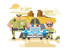 Texas police flat style Stock Illustration