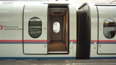 Open The Door Of The Train Wagon - stock footage