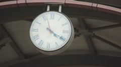 Public Clock City Decoration In Train Station Stock Footage
