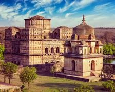 Royal cenotaphs of Orchha, India Stock Photos