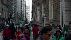 A speedup shot made from Charing Bull toward Broadway in New York. Stock Footage