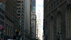 A real time shot made from Charing Bull toward Broadway in New York. Stock Footage