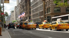 Crossroad of east 40th street and fifth avenue in New York. - stock footage