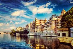 City Palace. Udaipur, India - stock photo